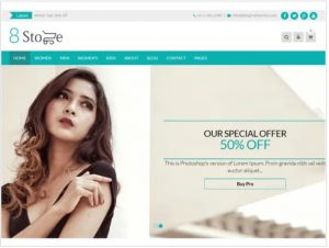 Eight Store free theme for ecommerce