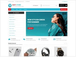 Easy store free theme for ecommerce