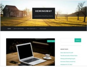 Hemingway free theme for blogs