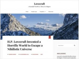 Lovecraft free theme for blog
