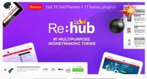 Rehub wordpress theme for affiliate marketing