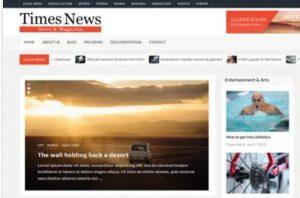 Timesnews wordpress theme