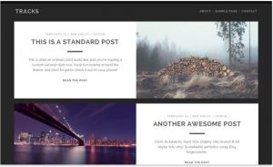 Tracks free theme for blog