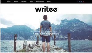 Writee Free theme for blog