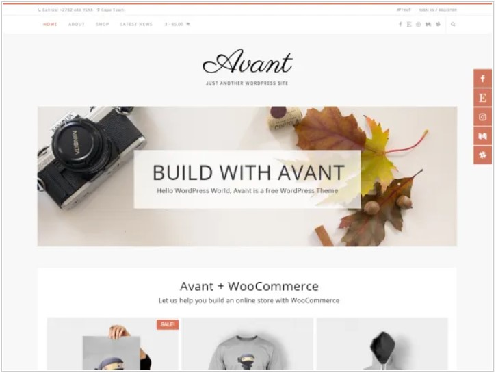 avant theme for all business