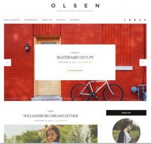 olsen light free theme for blog